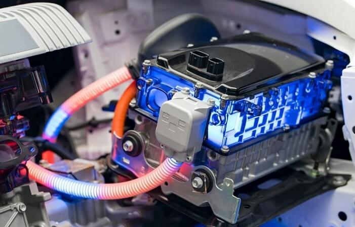 lithium-ion battery on electric car